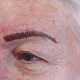 Microblading eyebrows after photo